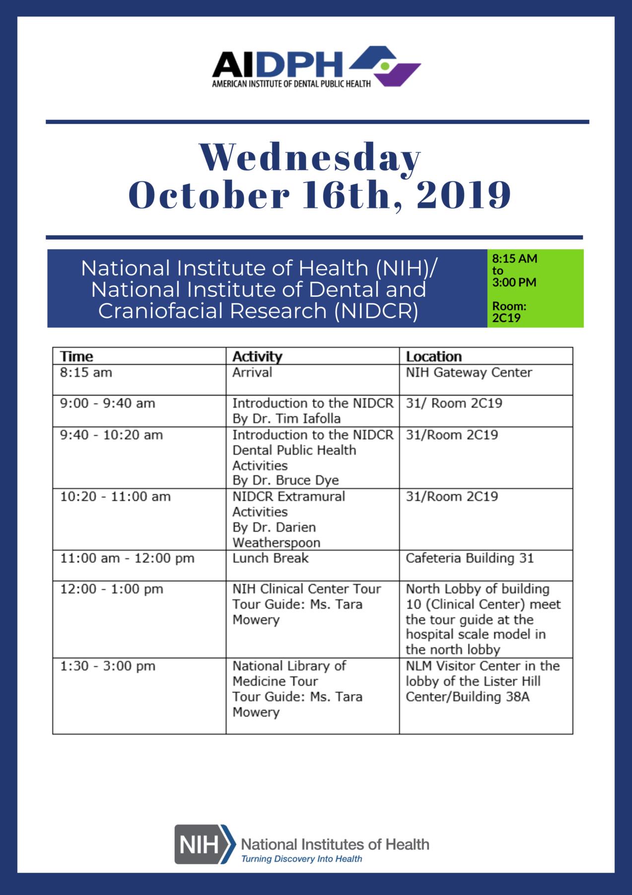 Day Two: NIH, NLM